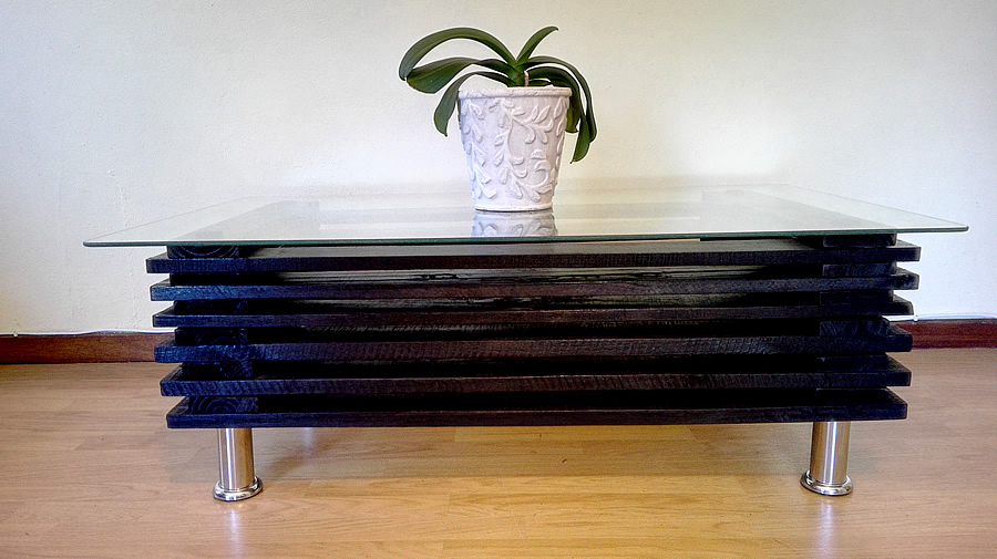 Stacked Coffee Table | Black