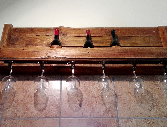 Pallet Wine Rack and Wine Glass Rack, Creator Creations Custom Furniture White River / Nelspruit, Mpumalanga