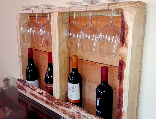 Boxed Pallet Wine Rack - Creator Creations Custom Furniture and Decor items for your Home in WHite River / Nelspruit / Lowveld / Mpumalanga