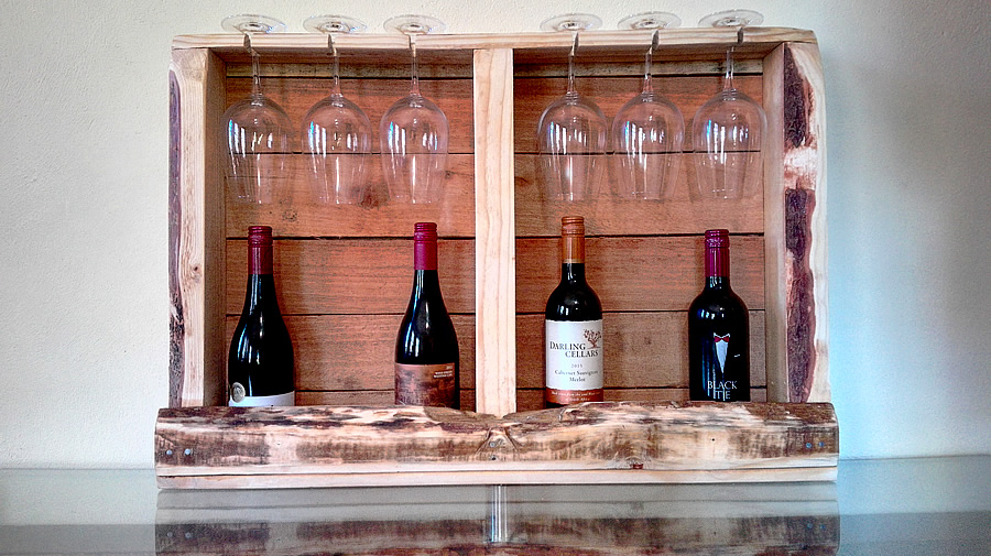 Boxed Pallet Wine Rack
