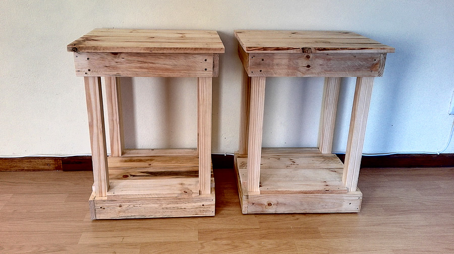 Standard Raw Pallet Bedside Tables
