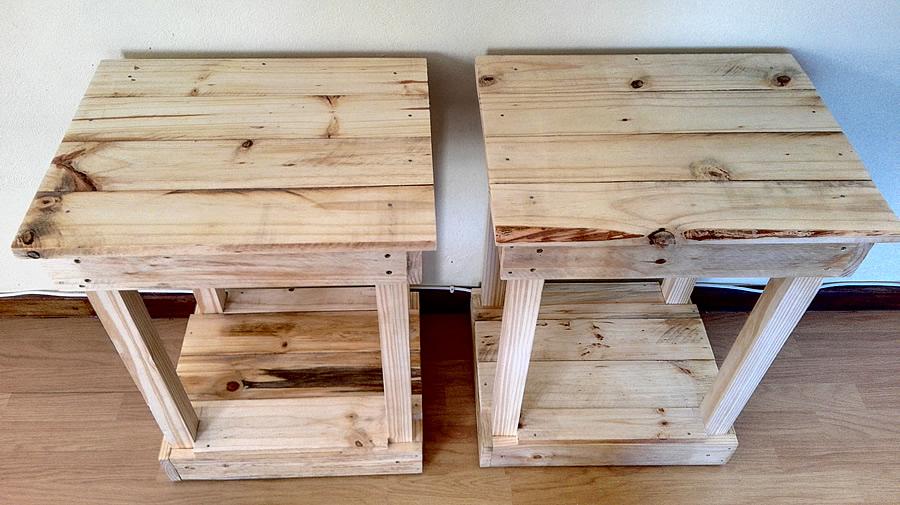 Standard Raw Pallet Bedside Tables