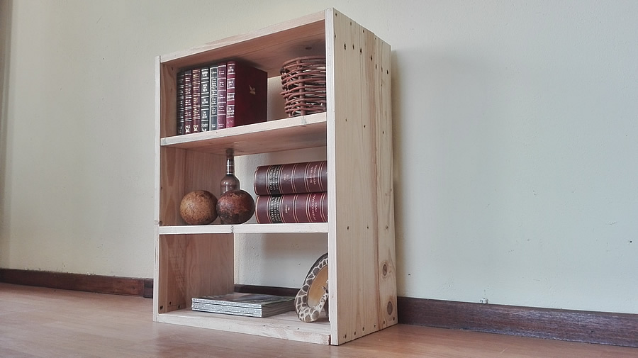 Pallet Bookshelf | Raw