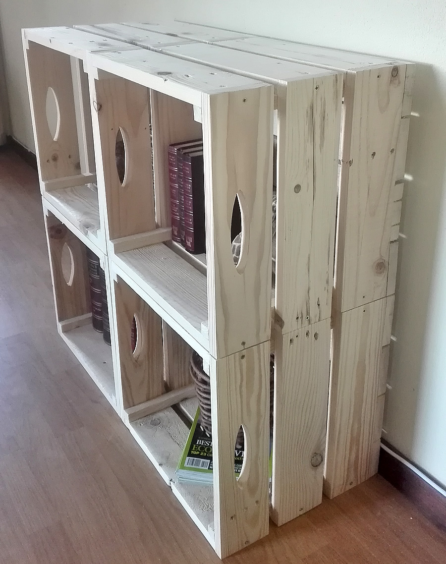 pallet crate wall unit creator creations custom pallet furniture