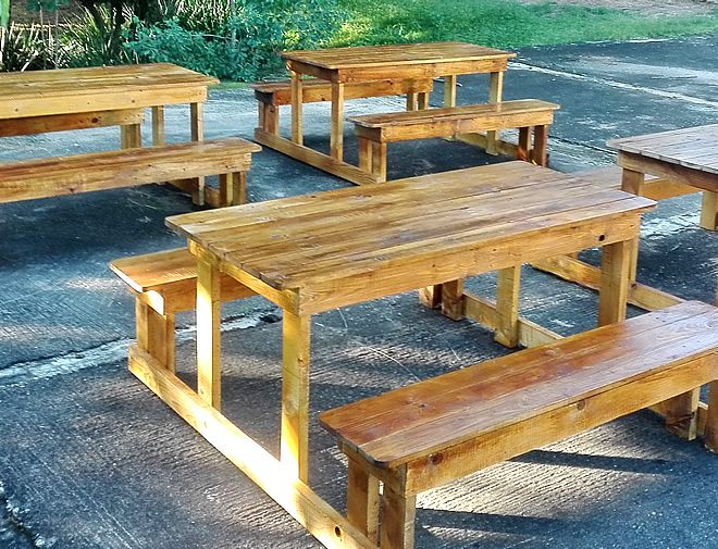 Pallet Picnic Bench and Table 1