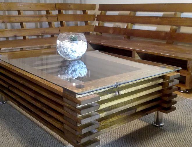 Modern oak coffee table 2