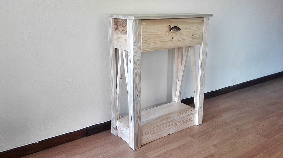 Narrow Raw Console Table