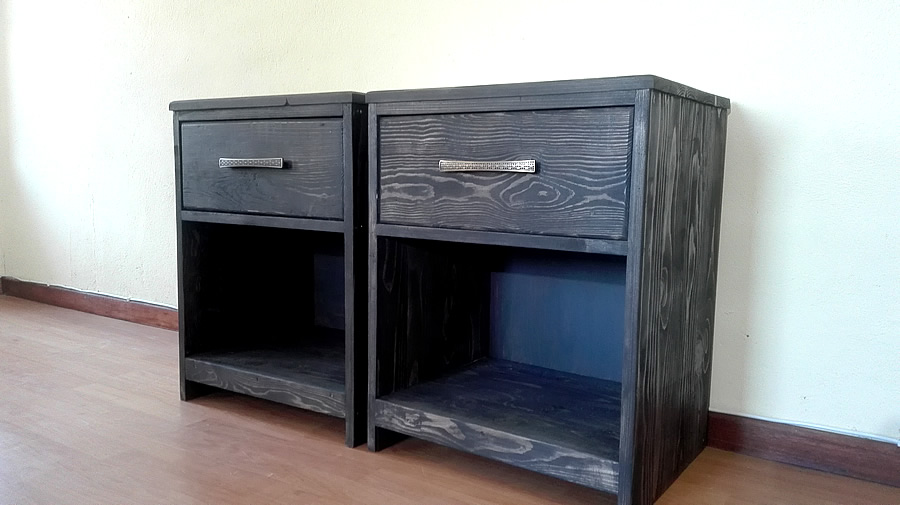 Charcoal Bedside Tables | 1 Drawer