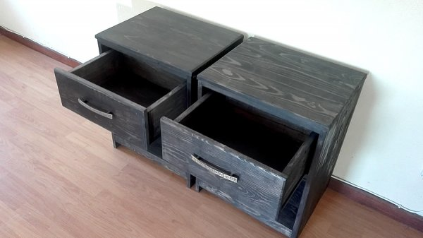 Charcoal Bedside Tables With Drawer Creator Creations
