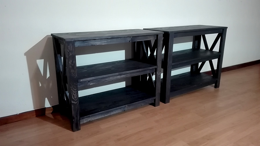 Charcoal Shelf Unit | Large