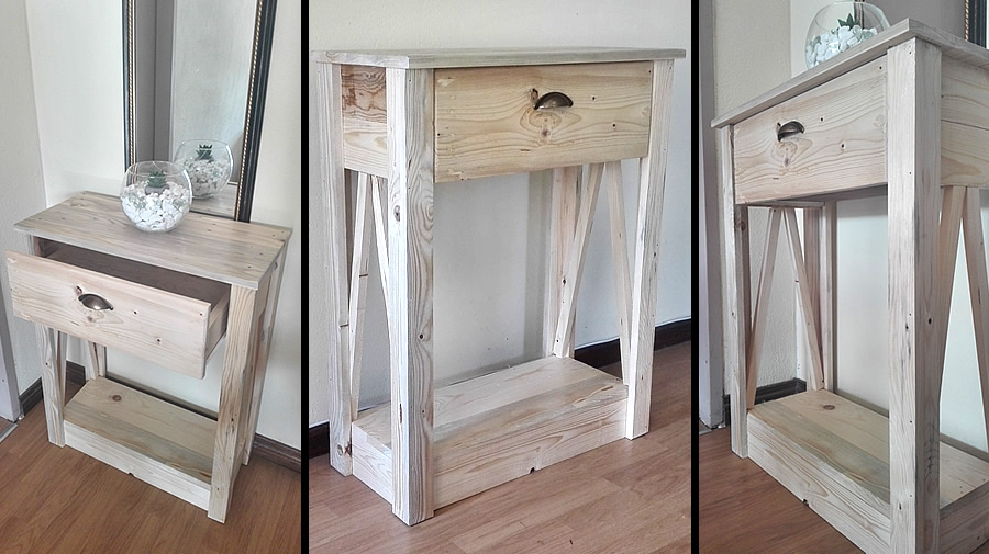 Narrow Raw Console Table   Creator Creations Custom Furniture In White  River, Nelspruit, Mpumalanga