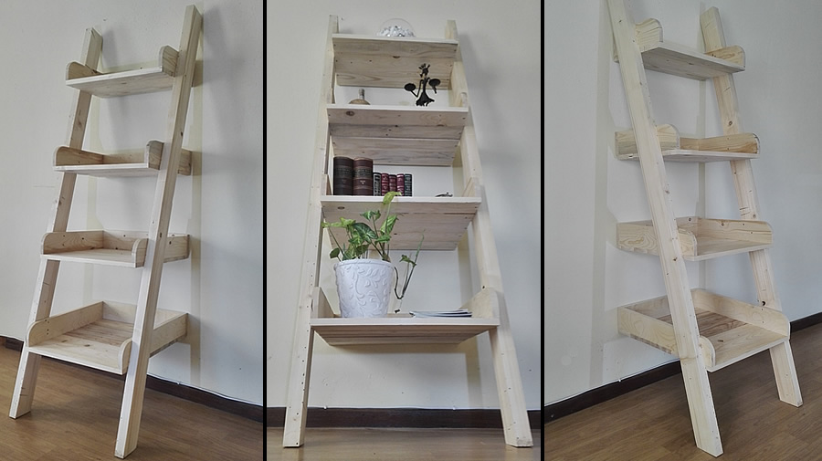 Ladder-Style Pallet Shelf Unit | Raw