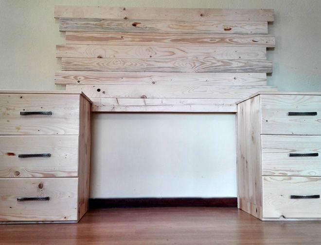 Combo - Bedroom Combo - Headboard drawer side tables 1