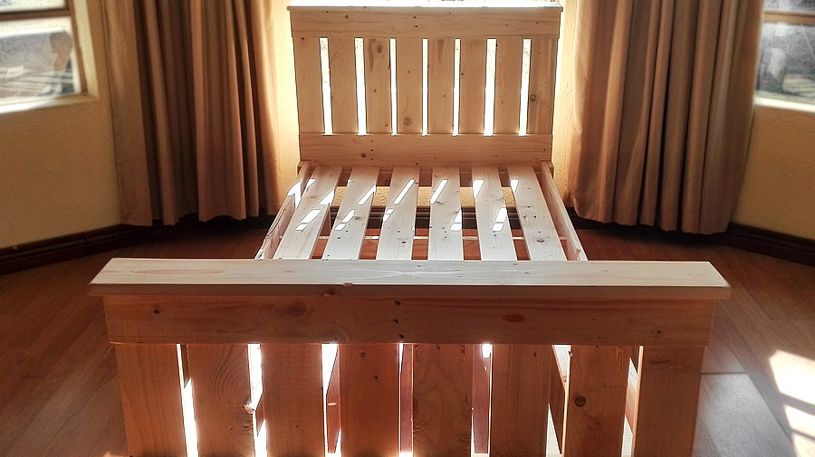Single Pallet Bed Raw Creator Creations Custom Wooden Furniture