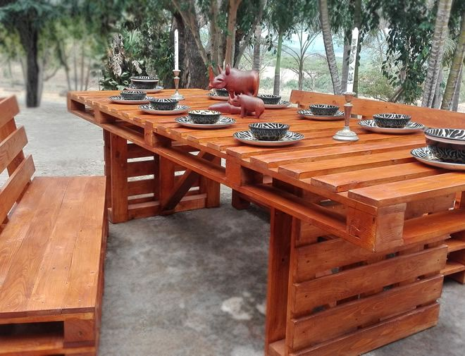 pallet styled dining set 3