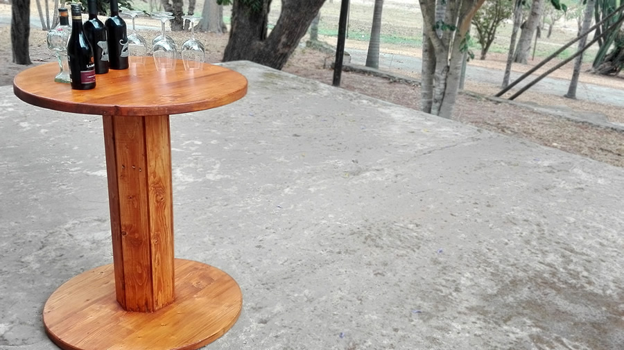 Spool Bar Table