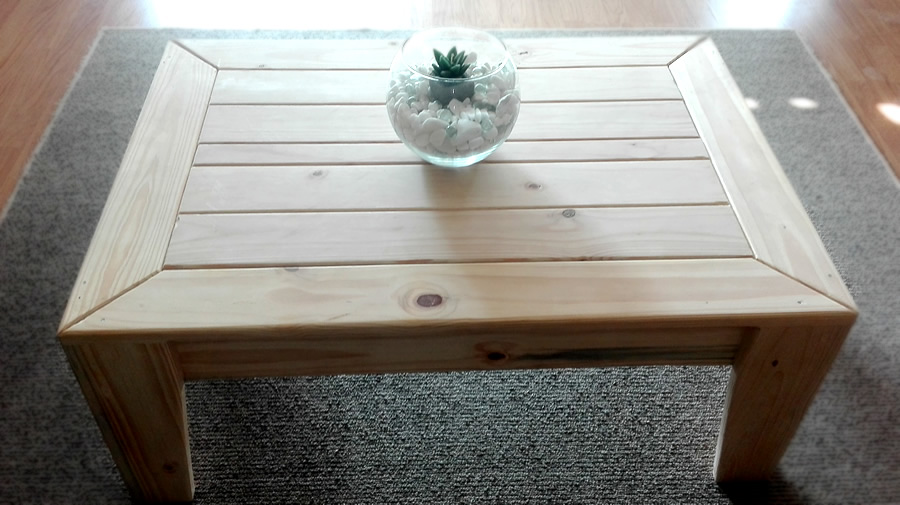 Angled Coffee Table – Raw