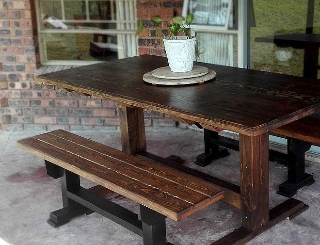 modern 2 tone dining set 2
