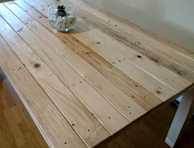 rustic pallet dining table 4