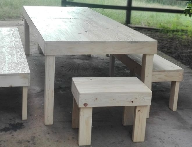 10 seater block dining table 4