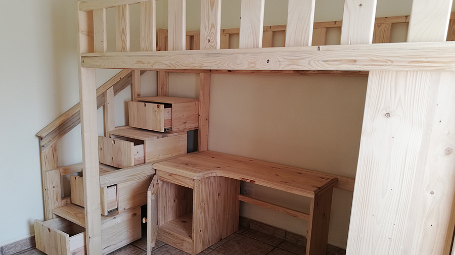 Kid S All In One Bunk Bedroom Raw Pallet Creator Creations Furniture