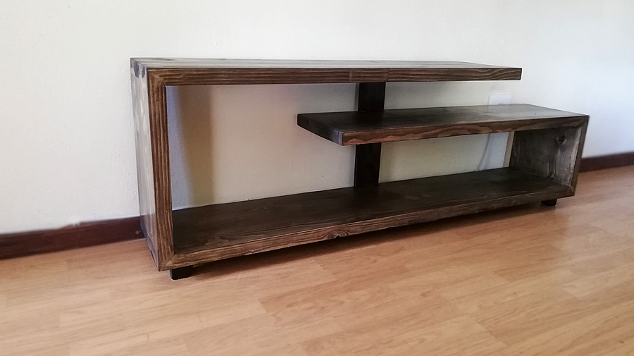 Spiral TV Stand | Charcoal Wash
