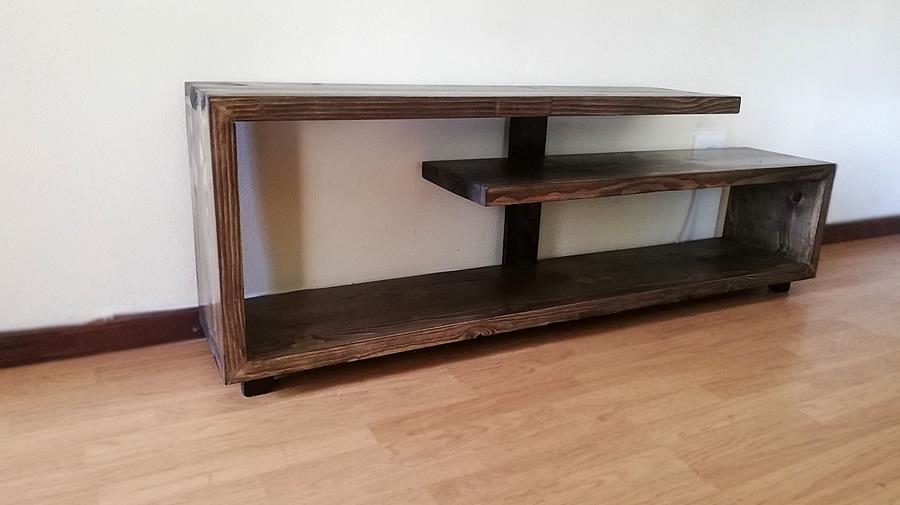 Spiral Tv Stand Charcoal Wash Creator Creations Custom Furniture