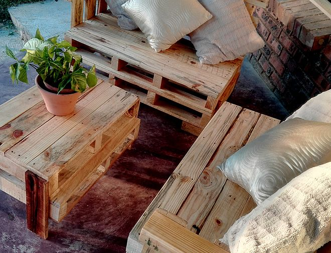 Pallet Lounge Suite Patio, Creator Creations Custom Furniture White River / Nelspruit, Mpumalanga