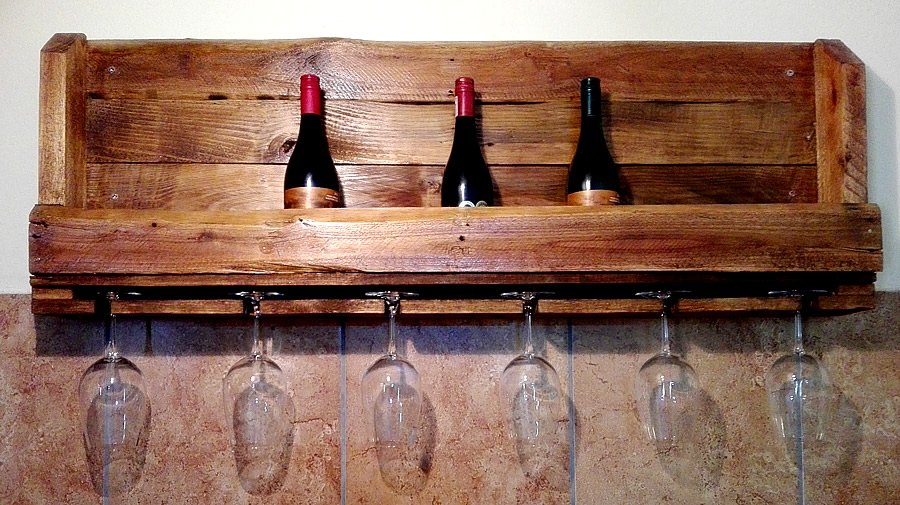 Rustic Wine & Glass Rack