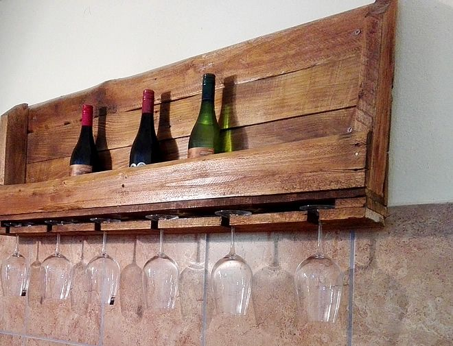Custom Pallet Wine Rack, Creator Creations Custom Furniture White River / Nelspruit, Mpumalanga