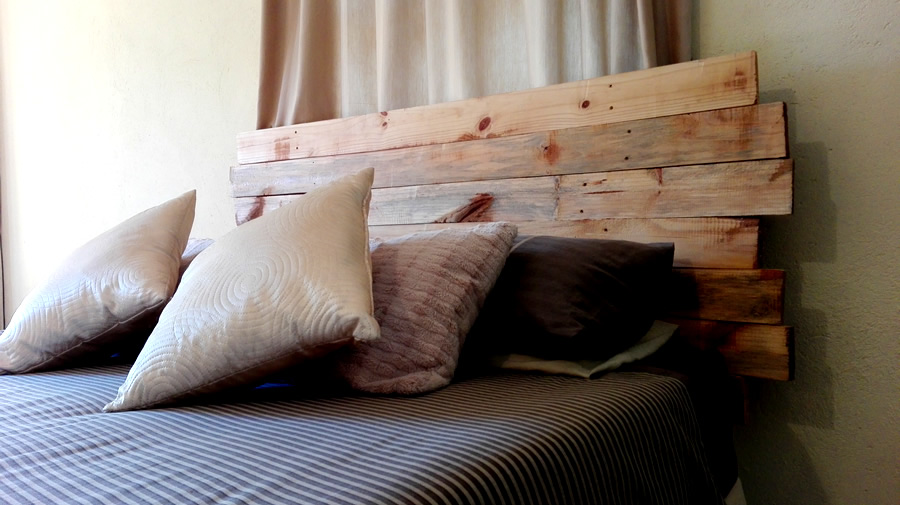 Jagged Pallet Headboard