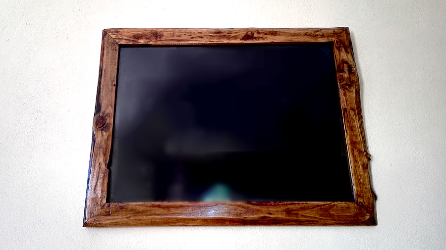 Rustic Frame With Glass
