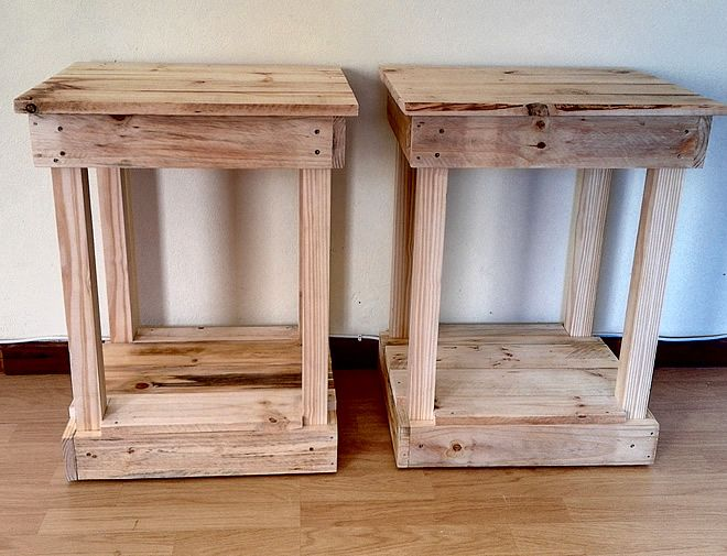 Raw Pallet Bedside Tables 1