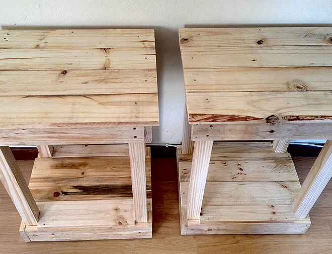 Raw Pallet Bedside Tables 2