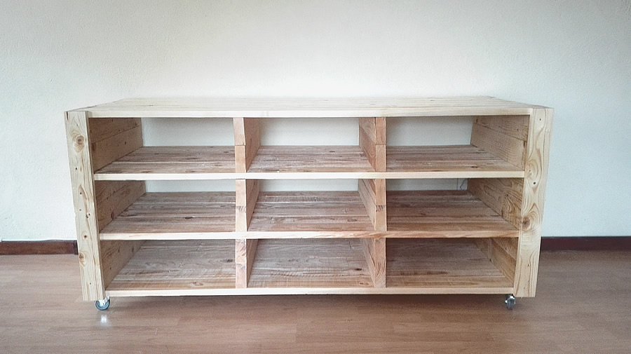 Pallet Entertainment Wall Unit