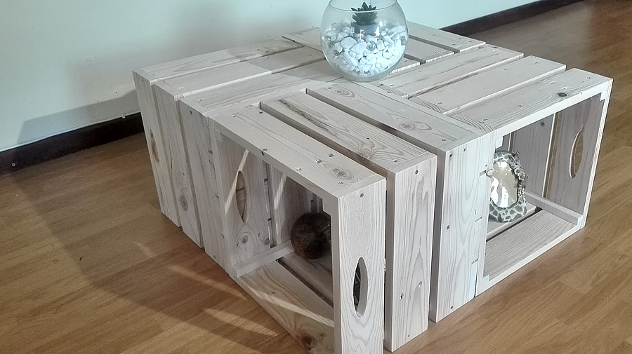 Pallet Crate Coffee Table | Raw
