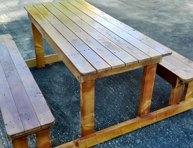 Pallet Picnic Bench and Table 2