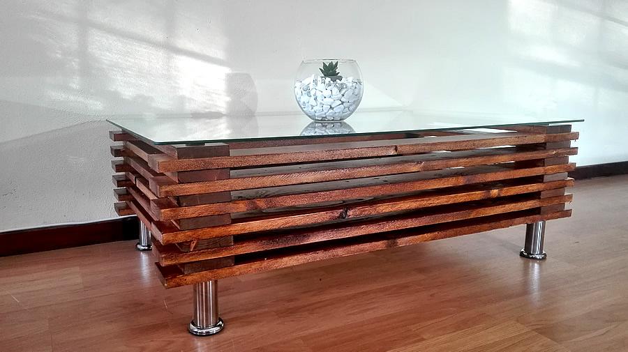 Stacked Coffee Table | Dark Oak