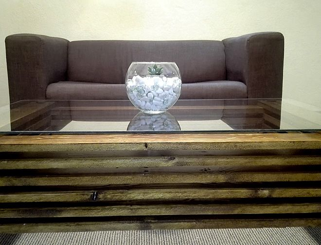 Modern oak coffee table 3