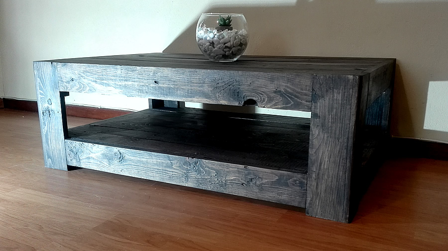 Charcoal Farmstyle Floor Base Pallet Coffee Table