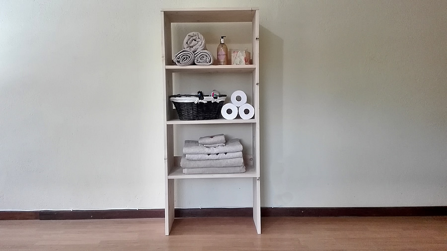 Bathroom Storage Shelf Unit Raw Pallet