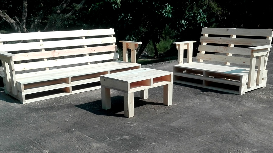 2 Piece Patio Suite | Raw Pallet | 5 Seater
