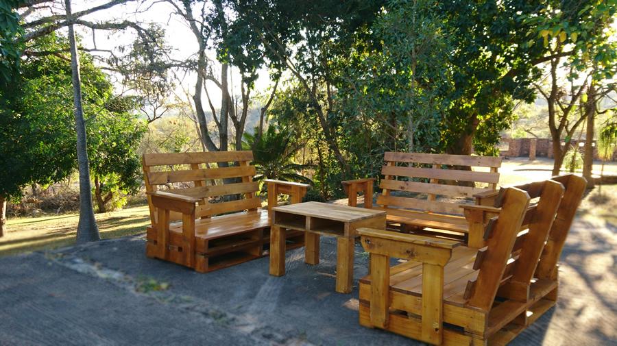 3 Piece | Dark oak Patio Suite | 6 Seater