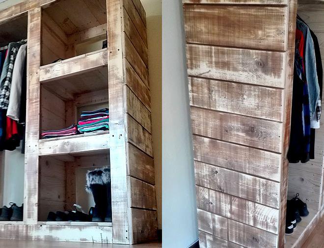 Open Pallet Wardrobe 2