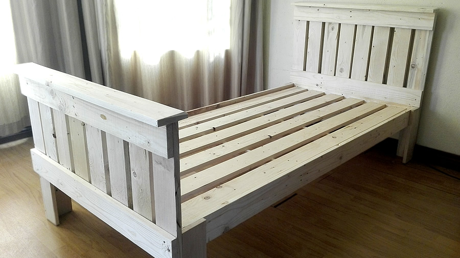 Single Pallet Bed | Raw