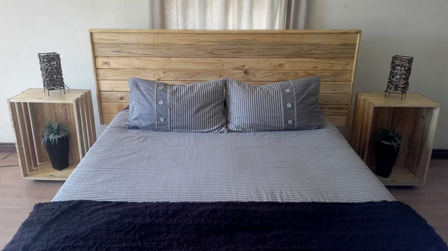 Bed Combo – Framed Headboard + Crate Bedside Tables