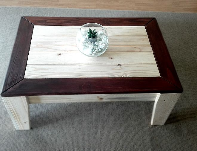 angled coffee table 2 tone 2