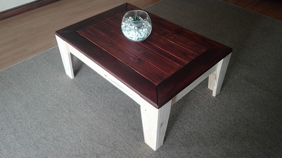 Angled Coffee Table | 2 Tone