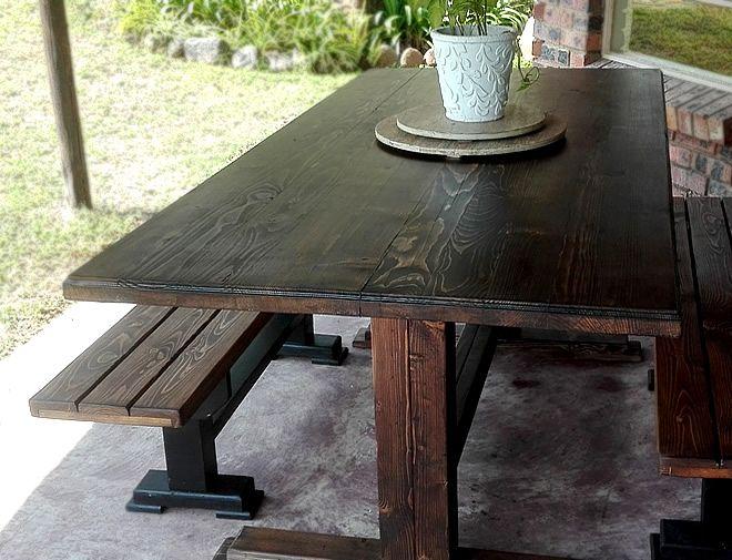 modern 2 tone dining set 1