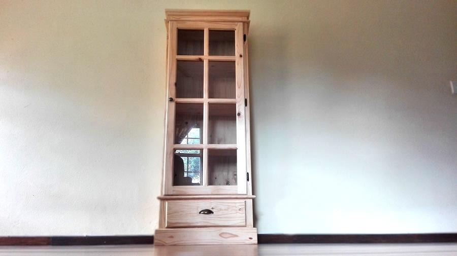 Glass Door Cabinet | Raw